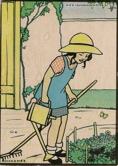 Meanwhile in the Netherlands..... Illustration reminiscent of MMM by Dutch writer and illustrator, Rie Cramer (1920s)