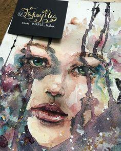 New video😇 Monday. . . #aquarelle #modernart #painting #watercolour #watercolor #art #contemporaryart #artist #aquarellepainting #artwork…