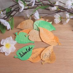 Wishing Leaves Assorted Colors   Elements for Spells and Rituals