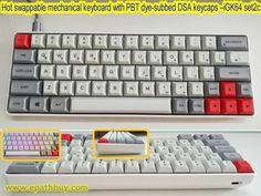 c5729e27583 64 key hot swappable mechanical keyboard with PBT dye-subbed DSA keycaps -  Powermonkey - iGK64 ( GK64 ) set2c