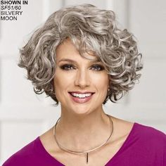 Meryl WhisperLite® wig by Paula Young® # .- Meryl WhisperLite® Perücke von Paula Young® Meryl WhisperLite® Wig by Paula Young® - Grey Curly Hair, Curly Hair Cuts, Curly Bob Hairstyles, Layered Hairstyles, Short Curly Hair, Wavy Hair, Short Hair Cuts, Curly Hair Styles, Fine Hair
