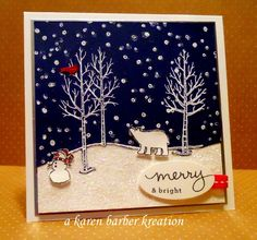 """The SUO Challenge this week was """"Out in the Woods"""" and right away, I thought night time. :) So I used this GREAT new photopolymer stamp s..."""