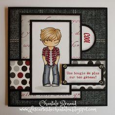 Les cartes de Chantalou | Une Carte de fête pour Adolescent ! |  Bonjour à tous!   Voici une carte pour garçon!   avec une image The Greeting farm que j'aime be...
