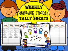 Efficient charts and checklists used to communicate and document student behavior in the classroom to parents.