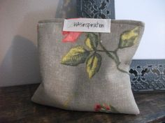 Coral Floral Satchet with Lavender by HASinspiration on Etsy, $3.50
