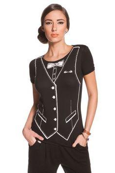 Lacoste + Malandrino Tuxedo Printed T-shirt : Tops & Tees