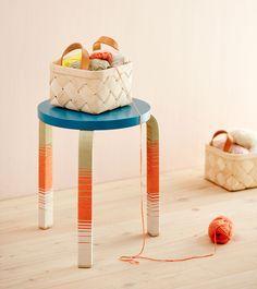 Artek 60 stool with new socks / Milla Heikkinen photo Piia Arnould