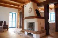Dom z bala: domy drewniane , kominki oraz piece kaflowe – Polska Drewniana