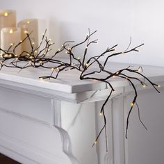 Electric Pre-lit Branch Garland at Brookstone