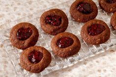 Chocolate Almond Raspberry Thumbprints Recipe (SFGate)