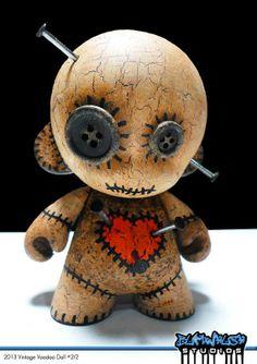 2013 vintage voodoo doll custom mummy vinyl toy with by bumwhush Voodoo Doll Tattoo, Voodoo Dolls, Toy Art, Vinyl Toys, Vinyl Art, Clay Projects, Clay Crafts, Halloween Crafts, Halloween Decorations