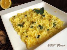 Risotto limone, salvia e zenzero | Ricetta