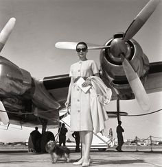Audrey Hepburn departing from Rome's Ciampino airport, June 16, 1958. Lily's B-day!