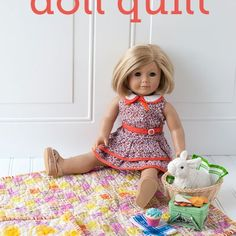 Easy Quilt for an American Girl Doll - The Polka Dot Chair