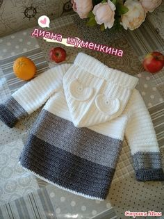 Crochet Square Patterns, Baby Knitting Patterns, Crochet Designs, Knitting For Kids, Crochet For Kids, Knit Crochet, Baby Girl Sweaters, Knitted Baby Clothes, Baby Dungarees Pattern