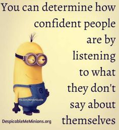How confident people are