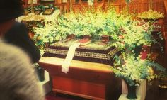 Holy Saturday - brightened shroud (post-Liturgy veneration)