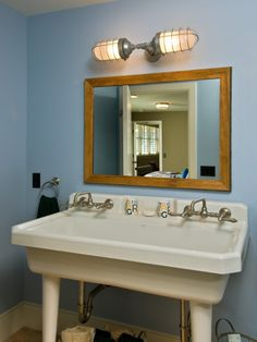 Love the sink. My husband is an electrician and is soooo going to make me this light fixture. He just don't know it yet!!!
