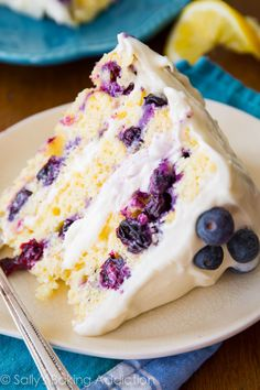 Citrusy lemon is another summertime favorite—make it even better with bursts of tangy blueberry flavor.  Get the recipe at Sally's Backing Addiction.   - CountryLiving.com