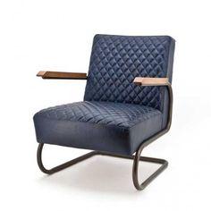 Fauteuil Caro blauw vintage kopen? Eleonora