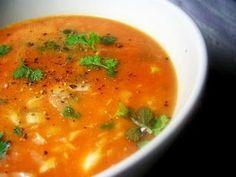 Sopa de Peixe com Hortelã da Ribeira / Portuguese Fish Soup with Hart's Pennyroyal Mint (recipe in english) Portuguese Soup, Portuguese Recipes, Seafood Soup Recipes, Seafood Dishes, Fish Soup, Mint Recipes, Fish Dishes, International Recipes, Soup And Salad