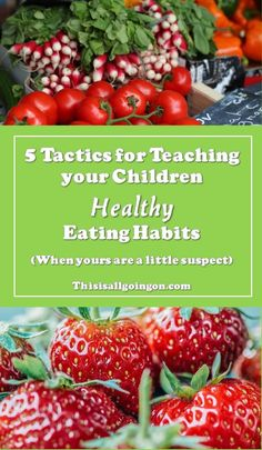5 Tactics for Teaching your Kids Healthy Eating Habits (even when yours are a little suspect) Do you struggle with your relationship with food? It doesn't mean you can't teach your children healthy eating habits - here's how to do it! Healthy Habits For Kids, Healthy Eating For Kids, Healthy Eating Habits, Healthy Food Choices, Healthy Eating Recipes, Healthy Living, Eat Healthy, Nutrition Education, Kids Nutrition