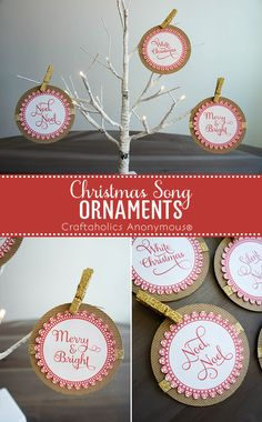 Printable Christmas Ornaments. Make quick and easy handmade ornaments with this free printable!