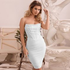 Color : White Style : Sexy & Club Material : Polyester, Spandex Occasion : Evening Party, Nightclub, Cocktail, Runway The post Sexy Strapless Line Mesh Backless Midi Party Dress appeared first on Power Day Sale.