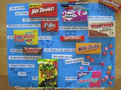 Gift Ideas For Fathers A Fathers Day Candy Bar Poem  Yes You