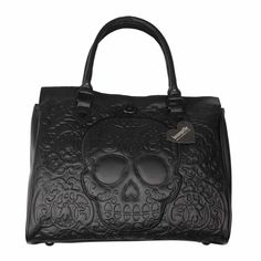 Sugar Skull Black Loungefly Satchel Purse | Razorz Edge