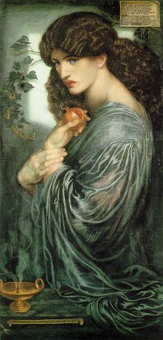 The Gothic Revival The Arts and Crafts movement Paintings by Pre-Raphaelite painter Dante Gabriel Rosetti (1828-1882). In most of them William Morris' wife is the model...