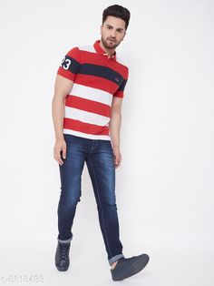 Tshirts Designer  Cotton Blend Tshirts Fabric: Cotton Blend Sleeve Length: Short Sleeves Pattern: Striped Multipack: 1 Sizes: S (Chest Size: 38 in Length Size: 27 in)  XL (Chest Size: 44 in Length Size: 28.5 in)  L (Chest Size: 42 in Length Size: 28 in)  M (Chest Size: 40 in Length Size: 27.5 in)  XXL (Chest Size: 46 in Length Size: 29 in)  XXXL (Chest Size: 48 in Length Size: 29.5 in) Country of Origin: India Sizes Available: S, M, L, XL, XXL, XXXL   Catalog Rating: ★4 (462)  Catalog Name: Pretty Partywear Men Tshirts CatalogID_876906 C70-SC1205 Code: 713-5818433-927