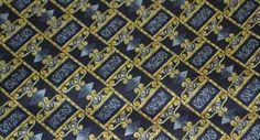 Black and Gold silk twill 100% silk, AC Ashworth & Co Custom Neckties
