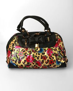 Iron Fist Lounge Leopard Handbag - Black Iron Fist 43e5c7a227148
