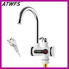 atwfs electric kitchen water heater tap instant hot water faucet heater cold heating faucet tankless instantaneous