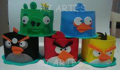 AJ Artes - Centro de mesa Angry birds