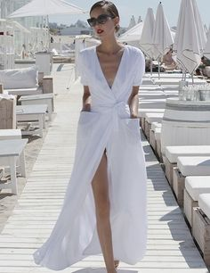 White. Resort fashion.