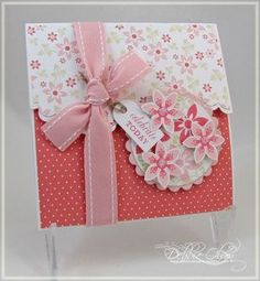 Gift card holder card with tutorial...