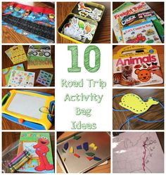 10 Road Trip Activity Ideas For Preschoolers - Love the tip about handing out the activities only when needed. Love the glow stick idea too. Toddler Travel Activities, Road Trip Activities, Activities For Kids, Toddler Games, Indoor Activities, Learning Activities, Activity Bags, Activity Ideas, Craft Ideas