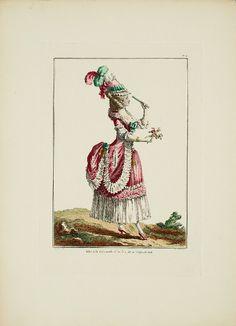 Antique  Hand Colored Original  Costume Plate by RarePostCards