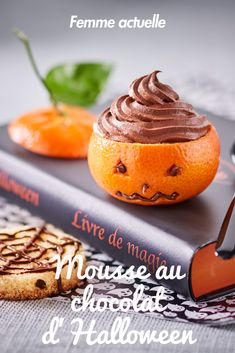 Halloween chocolate mousse: discover the cooking recipes of Femme Actuelle Le MAG - - Halloween Desserts, Halloween Party Snacks, Halloween Dinner, Halloween Foods, Chocolate Fruit Cake, Rum Fruit Cake, Chocolate Recipes, Fall Dessert Recipes, Easy Cake Recipes