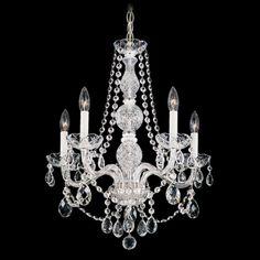 Schonbek Worldwide Lighting Arlington Heritage Handcut Clear Crystal Chandelier 1302-40H