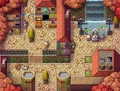 Autumn city by Chaoss17 Pixel Design, Map Design, Pixel City, Rpg Map, 2d Game Art, Pix Art, Pixel Art Games, Fantasy Map, Tabletop Rpg