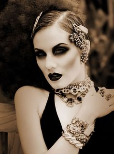 #Makeup #hair style #accessories. It's just all in one!