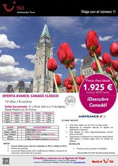 #Oferta para #canadá para el próximo verano #viajes #vacaciones