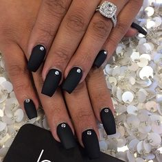 Black matte with Swarovski