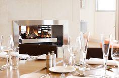 Dinner set-up   Melbourne restaurants   Fireplace