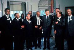 Civil Rights Leaders Meet with President Kennedy, 1963 Civil Rights Leaders, Civil Rights Movement, Matin Luther King, King's Speech, Best Speeches, Vietnam War Photos, Black Presidents, John Fitzgerald, American Tours