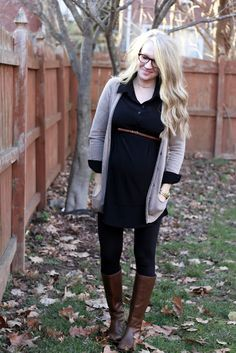 cute & comfy maternity outfit...I would wear this and I'm not preg.