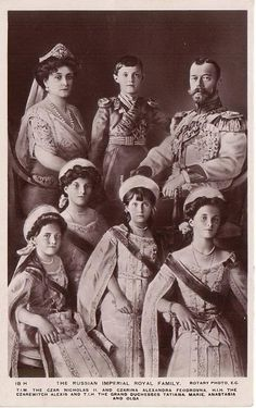 Last Russian Imperial family  I have always had a fascination with the Tsar of Russia. Such a beautiful and at one time happy family.